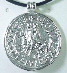 【送料無料】ブレスレット アクセサリ― シールメダイヨンシルバースターリングシルバーナイトメダルtemplar seal medallion silver 925 sterling silver knight templar medal