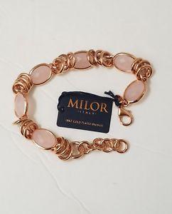【送料無料】ブレスレット アクセサリ― milorイタリアブロンズ3リンクブレスレットmilor italy bronze triple link rose gold color bracelet