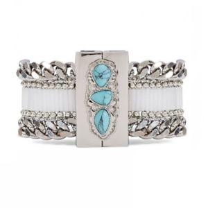 【送料無料】ブレスレット アクセサリ― カフブレスレットサイズボウルcuff bracelet * hipanema * holy silversize m 17,5cm  with bowl