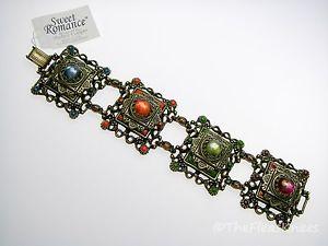【送料無料】ブレスレット アクセサリ― ロマンスワイドカボションブレスレットタグsweet romance wide cabochon bracelet  with tags, discontinued