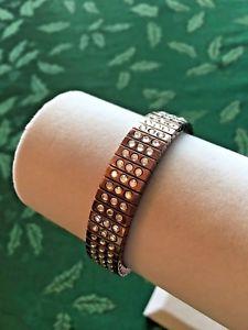 【送料無料】ブレスレット アクセサリ― スワロフスキーブレスレットストレッチ swarovski stretch bracelet three rows crystal stones