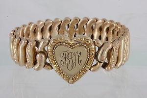 【送料無料】ブレスレット アクセサリ― ゴールドアメリカンクイーンピットマンブレスレットgold filled american queen pitman amp; keeler 1940 bjh inscribed bracelet vntg 9504