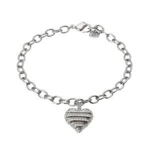【送料無料】ブレスレット アクセサリ― スワロフスキーブレスレットサイズgenuine swarovski sensible pave heart bracelet, size 18cm