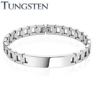【送料無料】ブレスレット アクセサリ― タングステンブレスレットtungsten men bracelet plaque