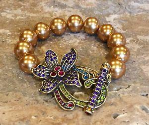 【送料無料】ブレスレット アクセサリ― ハイジクリスタルリンクブレスレットドルheidi daus perinneal favorite crystal bold pave' link toggle bracelet ret 220