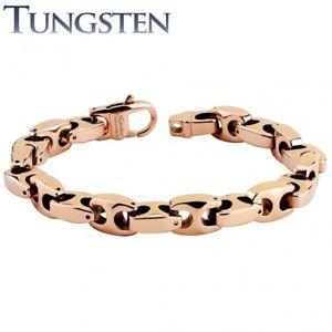 【送料無料】ブレスレット アクセサリ― mensタングステンバラmens tungsten bracelet rose gold color