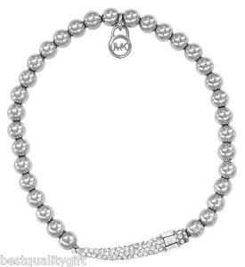 【送料無料】ブレスレット アクセサリ― michael korstone elasticstretch beadpave crystal horn bracelet mkj3092michael kors silver tone elastic,stretch beadpave cr