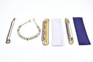 【送料無料】ブレスレット アクセサリ― ビーズブレスレット×zii multicoloured beaded bracelets x4
