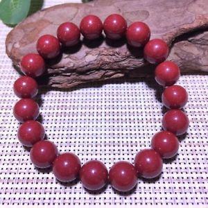 【送料無料】ブレスレット アクセサリ― ストレッチラウンドビーズブレスレットnatural red cinnabar crystal stretch round beads bracelet 10mm