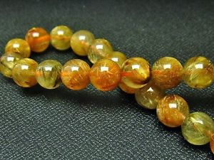 【送料無料】ブレスレット アクセサリ― ゴールデンルチルラウンドビーズブレスレット8mm 3a natural titin golden rutilated quartz round beads bracelet gift bl9810