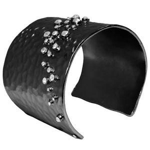 【送料無料】ブレスレット アクセサリ― サルタンヘマタイトクリスタルフランスカフブレスレットセレブkarine sultan hematite amp; crystal hammered cuff bracelet made in france celeb fav