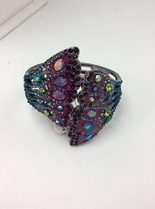 【送料無料】ブレスレット アクセサリ― ジョンソンストーンbetsey johnson hematitetone stone amp; pav butterflywing cuffbracelet bb27