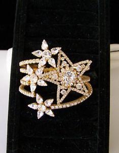【送料無料】ブレスレット アクセサリ― チェコラインストーンガラスクランパブレスレットa star is born czech gold plated rhinestone amp; glass clamper bracelet signed
