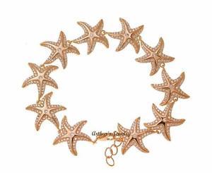 【送料無料】ブレスレット アクセサリ― ローズゴールドスターリングシルバーハワイアンスターフィッシュブレスレットrose gold plated 925 sterling silver hawaiian nautical starfish bracelet