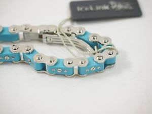 【送料無料】ブレスレット アクセサリ― アイスリンクリンクブレスレットリンクステンレススチールice link blue bicycle link bracelet 12 link stainless steel 775