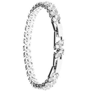 【送料無料】ブレスレット アクセサリ― kホワイトゴールドクリスタルデザインメッキブレスレット18k white gold plated bracelet with crystal design by matashi