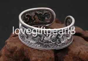 【送料無料】ブレスレット アクセサリ― スターリングシルバーシンボルレトロブレスレットpure s990 sterling silver symbols retro womens bracelet