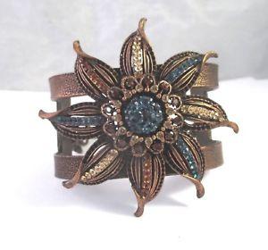 【送料無料】ブレスレット アクセサリ― スワロフスキークリスタルカフブレスレットseasonal whispers copper finish large swarovski crystal cuff bracelet