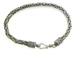 【送料無料】ブレスレット アクセサリ― ハンドメイドビザンチンブレスレットsterling silver hand made byzantine heavy bracelet
