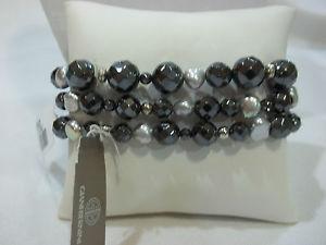 【送料無料】ブレスレット アクセサリ― スターリングシルバーヘマタイトバロックストレッチブレスレット giani bernini sterling silver amp; hematite baroque stretch bracelet stunning