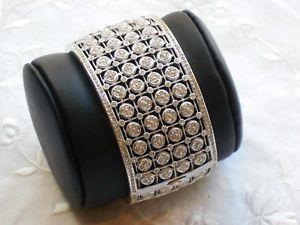 【送料無料】ブレスレット アクセサリ― クリスタルカフブレスレットnadri runway large crystal cuff bracelet just stunning amp; retired