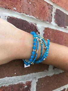 【送料無料】ブレスレット アクセサリ― スコットアクアブレスレットnwt kendra scott supak bracelet in aqua howlite