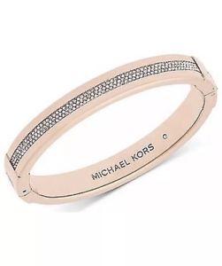 【送料無料】ブレスレット アクセサリ― ミハエルローズゴールドブレスレットドル michael kors mkj6229791 rose gold pave set crystal bracelet msrp 14500