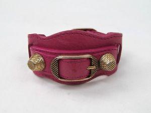【送料無料】ブレスレット アクセサリ― ピンクアリーナスタッドレザーカフブレスレットbalenciaga pink arena stud leather cuff bracelet