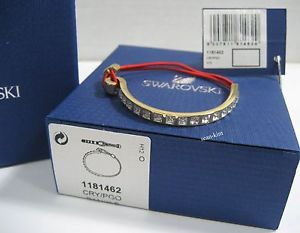 【送料無料】ブレスレット アクセサリ― スワロフスキーブレスレットswarovski toby red bracelet, goldplated crystal butterflies mib 1181462