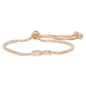 【送料無料】ブレスレット アクセサリ― スターリングシルバーイエローゴールドソリッドレディースインフィニティブレスレットグラムインチ925 sterling silver yellow gold solid ladies cz infinity bracelet 660gr 9 in