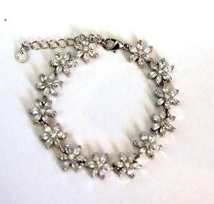 【送料無料】ブレスレット アクセサリ― バトラーwilsonヒナギクbutler and wilson clear crystal daisy bracelet silver colour wedding marriage