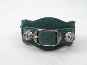 【送料無料】ブレスレット アクセサリ― グリーンアリーナスタッドレザーカフブレスレットbalenciaga green arena stud leather cuff bracelet