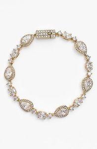 【送料無料】ブレスレット アクセサリ― クリスタルラインブレスレットゴールドwomens nadri crystal line bracelet gold 141633