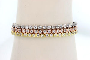 【送料無料】ブレスレット アクセサリ― 3 in 1tennis braceletplated with gold adjustabletrendy3 in 1 tennis bracelet silver plated with gold adjustable trendy