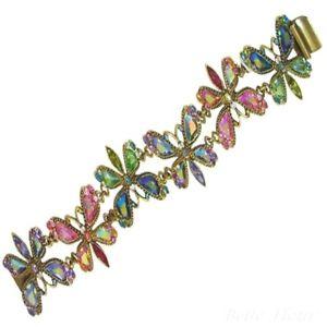 【送料無料】ブレスレット アクセサリ― ロマンスクリスタルオーロラアメリカホタルリンクブレスレットsweet romance crystal aurora borealis fireflies link bracelet ~made in usa~