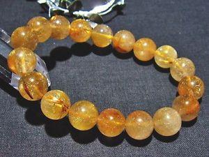 【送料無料】ブレスレット アクセサリ― ゴールデンルチルラウンドビーズブレスレット11mm 3a natural titin golden rutilated quartz round beads bracelet gift bl5401