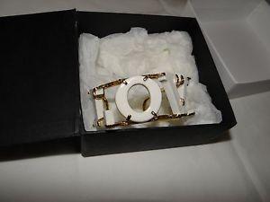 【送料無料】ブレスレット アクセサリ― ハンドメイドカフブレスレットユーロandresgallardo hand madepainted white porcelain love cuff bracelet rrp 245 euro