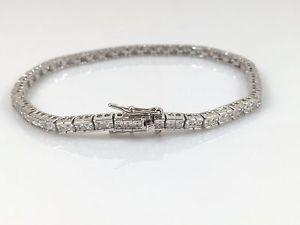 【送料無料】ブレスレット アクセサリ― スターリングシルバーソリッドレディーステニスブレスレット925 sterling silver genuine solid ladies hallmarked tennis bracelet heavy 75