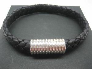 【送料無料】ブレスレット アクセサリ― スターリング925 magnaticwイタリアsterling silver 925 magnatic clasps wbraided italian leather bracelet menwomen