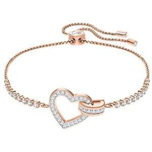 【送料無料】ブレスレット アクセサリ― スワロフスキーブレスレットホワイトローズゴールドswarovski lovely bracelet white rose gold plated 5368541