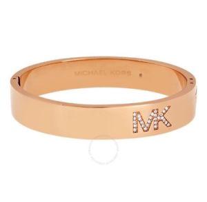 【送料無料】ブレスレット アクセサリ―  authentic michael kors fultonロゴrose goldcrystals bracelet mkj4655791 authentic michael kors fulton logo rose gold crystal