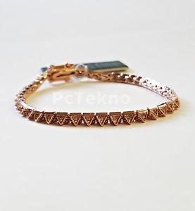 【送料無料】ブレスレット アクセサリ― トーンピラミッドテニスブレスレットドルeddie borgo rosegold tone pave pyramid tennis bracelet 175 nwt