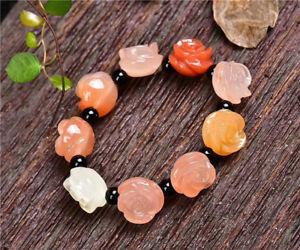 【送料無料】ブレスレット アクセサリ― ビーズブレスレットクリスタルローズ×aaaa natural colorful jade beads bracelet crystal rose carving 15*12mm