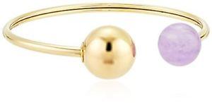 【送料無料】ブレスレット アクセサリ― ミハエルドルカフブレスレット michael kors goldtone open cuff bracelet with purple spear mkj5451710 95