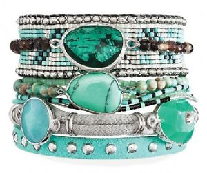 【送料無料】ブレスレット アクセサリ― マルチローブレスレットアトランティスターコイズサイズmultirow bracelet * hipanema * atlantis turquoisesize m 18 cm