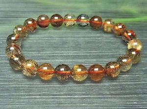 【送料無料】ブレスレット アクセサリ― ゴールデンルチルラウンドブレスレット9mm rare 3a natural clear golden rutilated quartz round bracelet gift bl5702