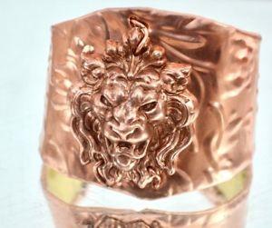 【送料無料】ブレスレット アクセサリ― カフブレスレットゴシックエンボスcopper floral brass cuff bracelet lion steampunk gothic embossed statement wide