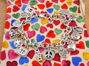 【送料無料】ブレスレット アクセサリ― ブライトンブレスレットrare brighton 2009 dream peace charm bracelet