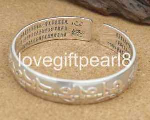 【送料無料】ブレスレット アクセサリ― スターリングシルバーマンレトロブレスレットpure s999 sterling silver mantra amulet retro bracelet