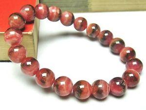 【送料無料】ブレスレット アクセサリ― クォーツラウンドビーズブレスレット10mm rare 4a natural rhodochrosite quartz round beads bracelet gift bl9142